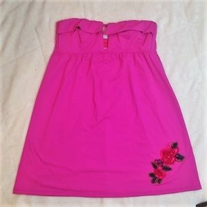 Betsey Johnson pink beach cover size S/M